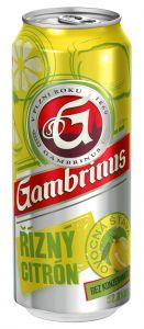 Gambrinus Řízný Citron, plech 0,5l