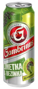 Gambrinus Limetka & Bezinka, plech 0,5l